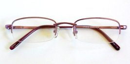 "Magnivision +2.25 ""Mason"" Light Mauve Metal Half Frame Reading Glasses with S... - $12.99"