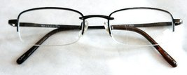 "Magnivision +1.75 ""MASON"" Brown Metal Half Frame Reading Glasses with Spring ... - $12.99"