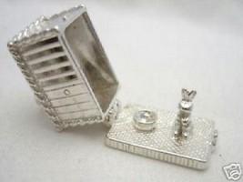 Welded Bliss British Sterling 925 Silver Rabbit Hutch Opening Charm + Split Ring - $43.50