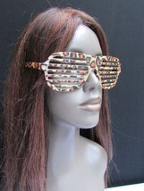 New Women Men Plastic Trendy Fashion Sunglasses Party Eye Glass Leopard Beige - $9.79
