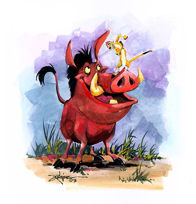 Timon and pumbaa cross stitch pattern