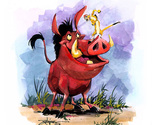 Timon and pumbaa cross stitch pattern thumb155 crop