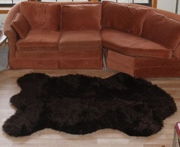 "6' 8"" x 4' 6"" Faux Russian Brown Bear Rug - Fake Brown Bearskin Rug - $149.00"