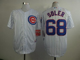 Jorge Soler White Striped Chicago Cubs MLB Jersey - $37.99
