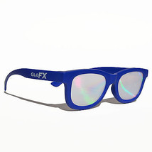 Blue frame diffraction grating lens gradient light show laser shades edm edc 3d - $9.90