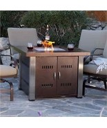 Tabletop Propane Firepit ~ Outside Deck Patio Heater Oasis  ~ Antique Br... - $656.10