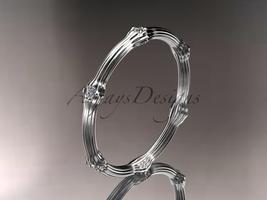 Platinum diamond vine wedding ring, engagement ring ADLR37B - $1,125.00