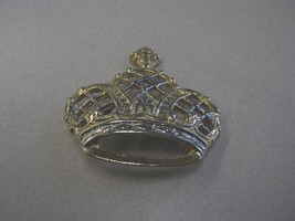MARKED TAIWAN GOLD & SILVER COLOR CROWN SHAPED PIN JEWELRY - $12.99