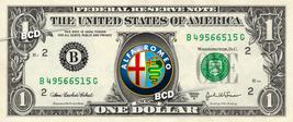 Alfa Romeo Car logo on REAL Dollar Bill Collectible Celebrity Cash Money... - $6.66