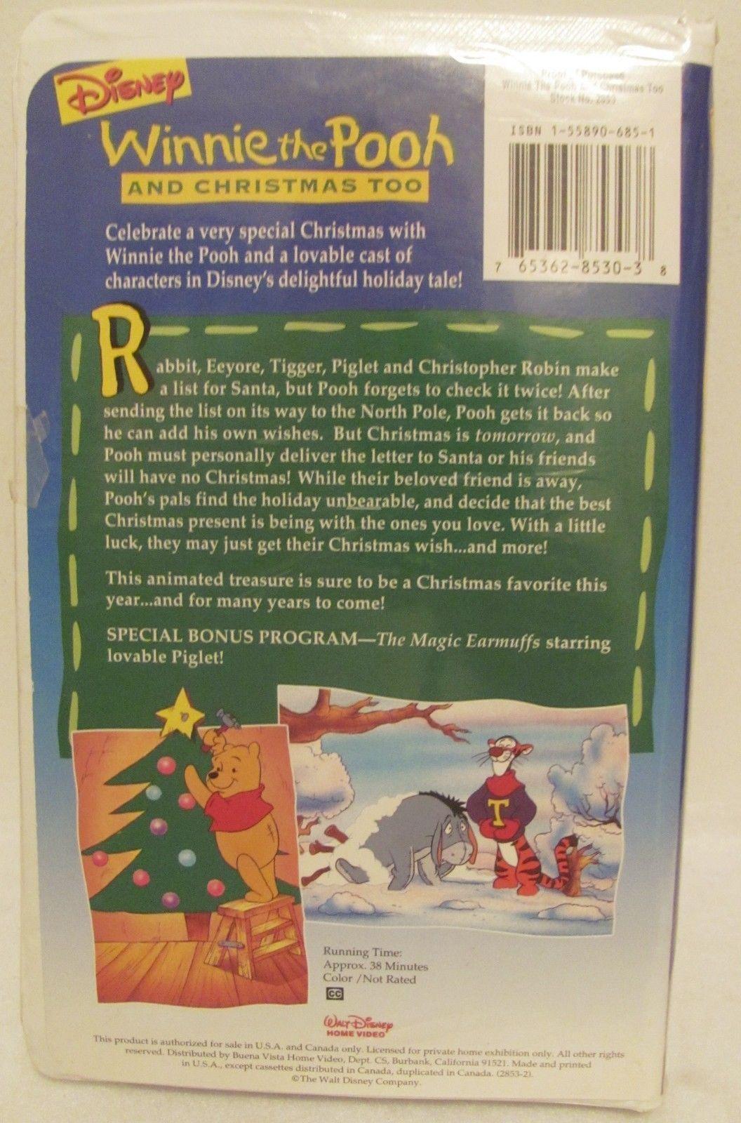 Winnie The Pooh And Christmas Too.Vhs Winnie The Pooh And Christmas Too Vhs And 16 Similar Items