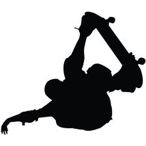 Skateboarding Wall Decal Sticker - Skating Sports Silhouette Decoration ... - $19.95