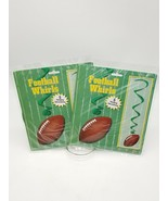 Football Whirls Two 5 Packs 10 Total Hanging Decorations Superbowl - $9.74