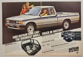 1979 Print Ad The 1980 Datsun King Cab Pickup Truck with 2 Rear Jump Seats - $11.56