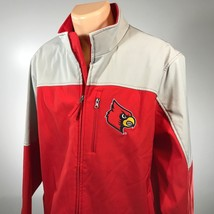 Lousivlle Cardinals XL Jacket Mens Size XL NCAA College Red Gray Embroid... - $37.11