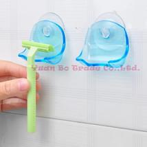 1Pcs  Plastic Super Suction Cup Razor Rack Bathroom Razor Holder - $11.99