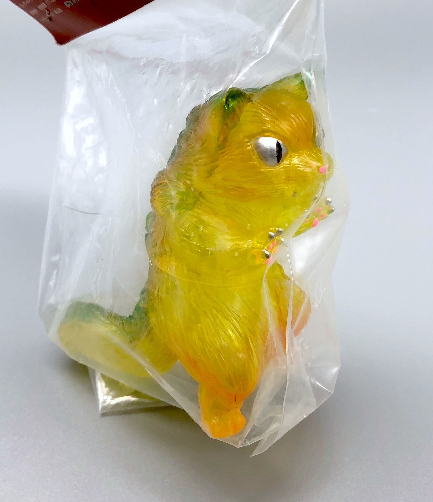 Max Toy Large Clear Yellow-Green Nekoron Mint in Bag