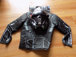 Size 4-6 Disney Star Wars Rogue One Death Trooper Costume Shirt Top Mask New - $20.00