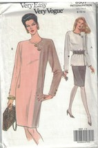 8507 sin Cortar Vogue Costura Patrón Misses Vestido Top Falda Vintage Mu... - $4.88