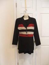 NWT $170 frederick's of hollywood Black Sheath dress & jacket set Made in Usa  7 - $38.61