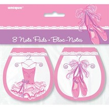 Pink Ballerina 8 Ct Note Pads Birthday Party Favors Dance Recital - €2,29 EUR
