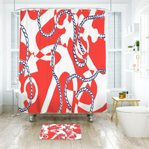 Flower Lilly Booze Cruise Shower Curtain Waterproof & Bath Mat For Bathroom - $15.30+