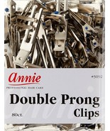 Annie Double Prong Clips Hair Pins Wave Clamp Accessory Claw Metal 80CT ... - $10.83