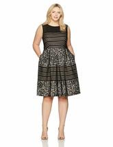 Sangria Women'S Plus Size Striped Lace Party Dress - $155.20+