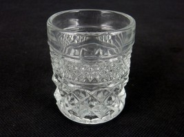 Vintage Toothpick Holder, Pressed Glass, Diamonds & Stripes Pattern, #TP... - $12.69