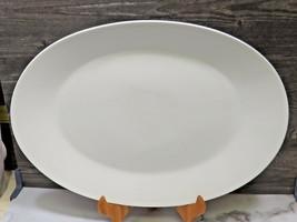 """LG Rosenthal Classic Modern White Oval Porcelain Tray Platter 17.5"""" Mid ... - $47.52"""