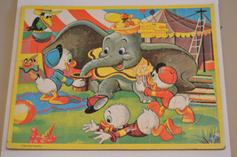 Vintage Walt Disney Character Jaymar Frame Tray Picture Puzzle Dumbo Huey Dewey - $9.99