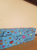 Love painting valentines painting canvas love a... - $20.00