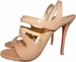 Christian Louboutin Vavazou Slingback Sandals Shoes Nude Beige Pumps 36 - $479.98