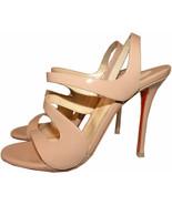 Christian Louboutin Vavazou Slingback Sandals Shoes Nude Beige Pumps 36 - $479.98