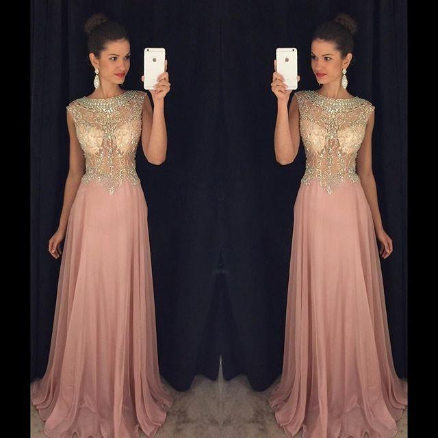 dusty pink prom dress,Prom Dress,long prom dress,prom dresses,evening dresses