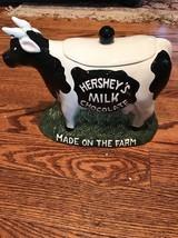 Cookie Jar - HERSHEY'S Milk Chocolate Ceramic Cow Cookie Jar 1998 tnt - $46.74