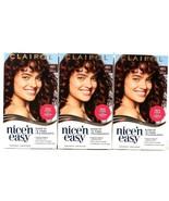 3 Boxes Clairol Nice N Easy 4BG Dark Burgundy Permanent Hair Color Cream - $26.99