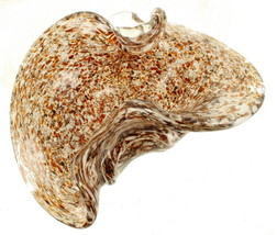 Vintage Murano Sommerso Art Glass Free Form Large Ashtray  Candy Dish Heavy - $161.99