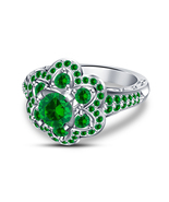 Princess Pocahontas Green Sapphire Engagement Ring in 925 Sterling Silver - $73.99