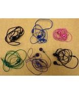 batch of 6 malfunctioning jvc earbud headphones - $11.95