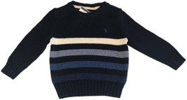 Polo Ralph Lauren Boys Multiple Navy Striped Pullover Sweater, L(14-16),... - $74.24
