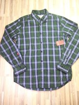 Levis Mens Plaid Cotton Button Down Long Sleeve Shirt Size Medium SAMPLE - $25.20