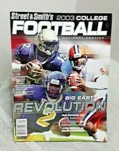 Street & Smiths College Football 2003 Magazine Big East Revolution - $9.90