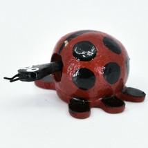 Handmade Oaxacan Wood Carving Folk Art Miniature Ladybug Bobble Head Figurine image 2