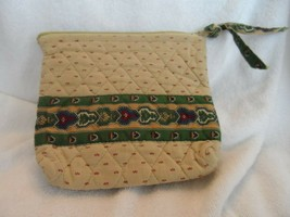 Vera Bradley small cosmetic in retired Wheat pattern   INdiana Tags - $18.50