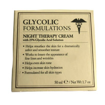 Glycolic Formulations Night Therapy Cream with 25% Glycolic Acid Solutio... - $18.80