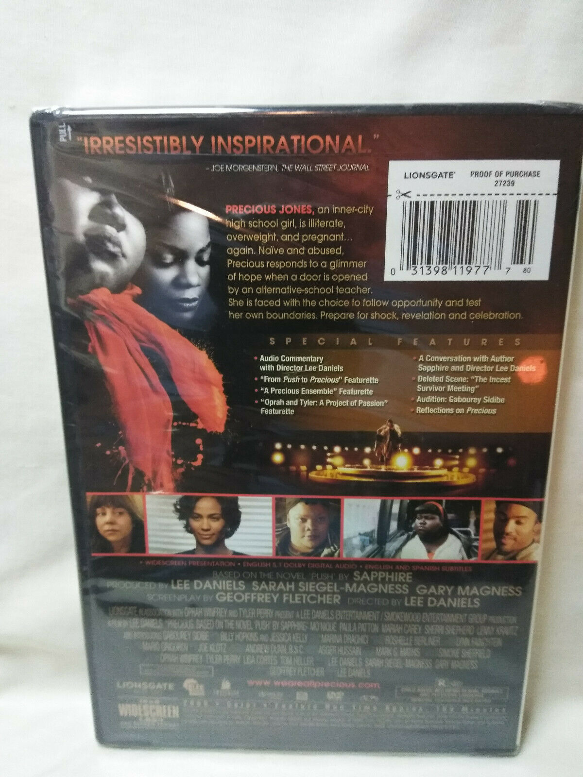Precious: Based on the Novel PUSH by Sapphire (DVD, 2010) New Sealed image 3