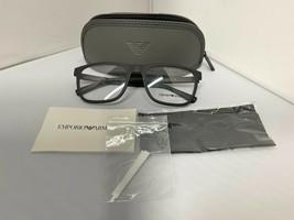 Emporio Armani EA3140 5042 Matte Black Rx Eyeglass Frames 55-19-145 Brand New - $72.55