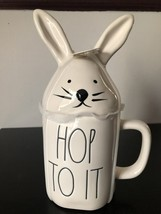 """Rae Dunn Artisan Collection by Magenta """"Hop To It"""" Mug with Bunny Top - $34.95"""
