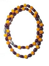 Tribal Necklace Banjara Amber Handmade Ethnic Resin India Vantage Beads ... - $19.32