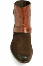 Two Tone Brown Men Jodhpurs High Ankle Magnificent Leather Premium Quali... - $169.99